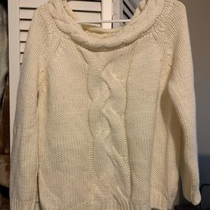 Cream sweater wide neck